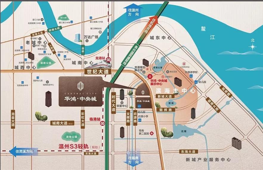 温州苍南县龙港镇地图