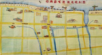 2万,这样的手绘地图如今再也没办法承载现在的龙港市愿景.