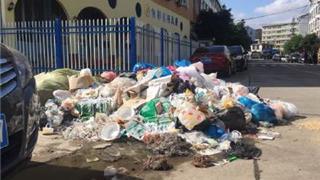 龙港湖前一幼儿园边垃圾成堆 希望有关部门清理整治!
