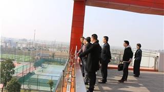杭州中递机电设备有限公司来龙港新城考察物流项目建设